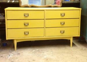 indie-home-austin-mid-century-furniture-yellow-dresser-painted